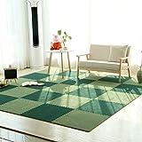 wildleder naht für umweltschutz - pad für den privaten schlafzimmer, wohnzimmer,dunkelgrüne hellgrün.