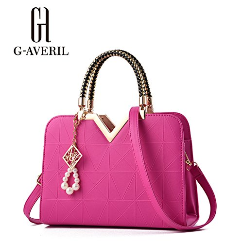 G-AVERIL, Borsa a mano donna rosa Pink Rose Red