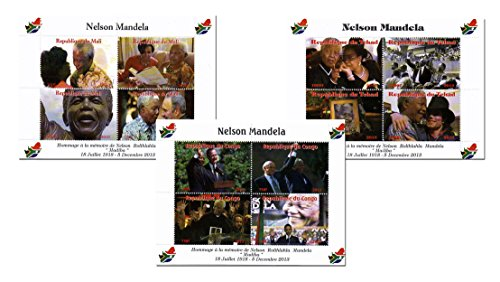 the-nelson-mandela-leaders-and-celebrities-stamp-collection-12-mint-stamp-on-3-sheetlets-2013-with-g