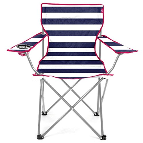 513CVIcn9xL. SS500  - Yello Kid's Folding Beach Chair Camping, Blue/White Stripe, 35 x 58 x 53 cm