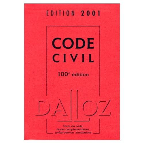 Code civil 2001