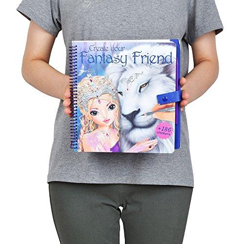 TOPModel 8061 - Create your Fantasy Friend Malbuch mit Rubbelbildern - 7