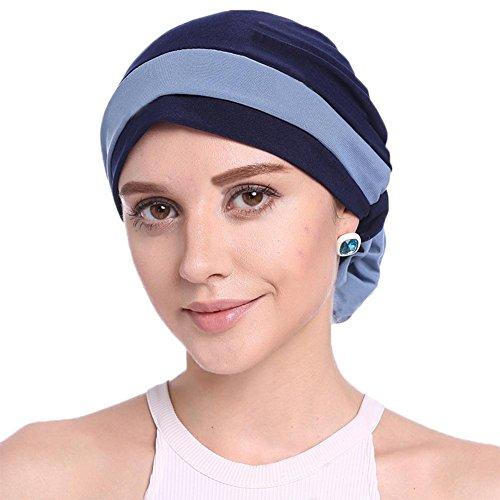 Cathy02Marshall Damen Elegante Weich Chemo Turban Mütze Kopftuch für Chemotherapie,Krebs,Haarverlust