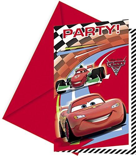Disney Cars Party Einladungen, 6Stück