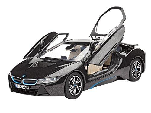 Preisvergleich Produktbild Revell Modellbausatz Auto 1:24 - BMW i8 im Maßstab 1:24, Level 4, originalgetreue Nachbildung mit vielen Details, 07008