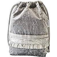 Mochila en tela-Mujer-Gris terciopelo/Diseño exclusivo deMisNubes/Regalos mujer-Originales-para mujer