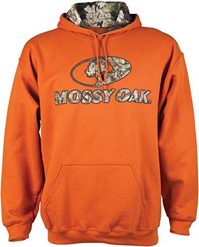 Mossy Oak Herren camo-Lined Hoodie, Herren, Texas-Orange, X-Large Puff Sleeve Hoodie