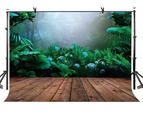 ld-Hintergrund des tropischen Waldes 5X5ft Tropischer Wald-Abenteuer-Thema-Fotografie-Kulissen Fotostudio-Hintergrund-Requisiten ()