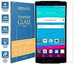 PREMYO Panzerglas für LG G4 Schutzglas Display-Schutzfolie für LG G4 Blasenfrei HD-Klar 9H 2,5D Echt-Glas Folie kompatibel für LG G4 Gegen Kratzer Fingerabdrücke