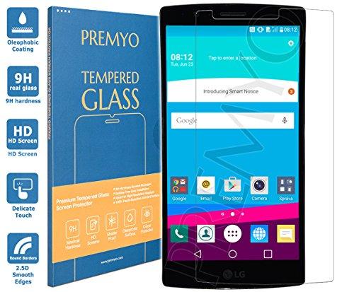 PREMYO Panzerglas Schutzglas Bildschirmschutzfolie Folie kompatibel für LG G4 Blasenfrei HD-Klar 9H 2,5D Gegen Kratzer Fingerabdrücke