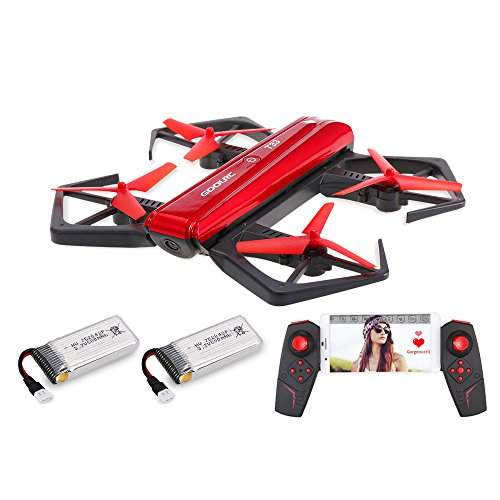 GoolRC T33 WIFI FPV Drone con cámara 720P HD Quadcopter, control remoto del sensor de gravedad, mini bolsillo plegables RC Selfie Drone Attitude Hold