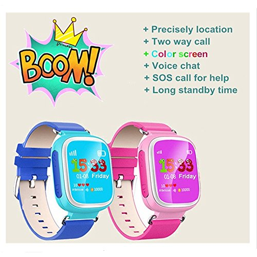 Android Kids Smart Watch Reloj Inteligente Pantalla a Color de gps1.44 Q80 con WiFi posición SOS Llamada funcionamiento recordatorio anti-lost Tracker PK Q90 Q50