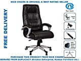 Nice Chairs Leather High Back Executive Revolving Office Chair (Black)