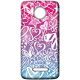Mott2 Back Case For Motorola Moto C | Motorola Moto CBack Cover | Motorola Moto C Back Case - Printed Designer Hard Plastic Case - Girls Theme - B0759VGGC1