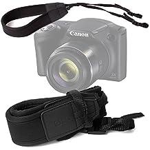 DURAGADGET Correa De Cuello Ligera Ajustable Para Cámara Canon PowerShot SX420 IS / SX540 HS - Color Negro