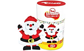 Toiing Stitchtoi Santa Claus Mini Size: DIY Felt Sewing Craft Kit for Kids Above Age 5 Years