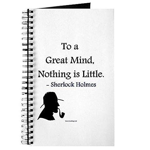 CafePress–Sherlock Holmes–Spiralbindung Journal Notebook, persönliches Tagebuch, Dot Grid