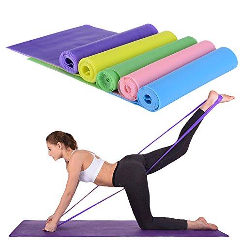 Lunga resistenza esercizio set per donne e men- 1.5 m 3 pezzi - pilates allenamento della forza & condizionata - fasce elastiche - yoga - beachbody insanity