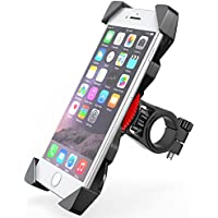 """Comsoon Soporte Movil Bicicleta, Anti Vibración Soporte Movil Bici Montaña con 360° Rotación para Moto y Cochecito, Soporte Universal Manillar para iPhone X 8 Plus 7 6s Samsung y 3.5""""-6.5"""" Smartphones"""
