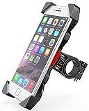 Bovon Support Téléphone Vélo, Universel Support Bicyclette Guidon pour les 3,5-6,5 Pouces Smartphones, Idéal pour Vélo de Route VTT Moto (Noir)