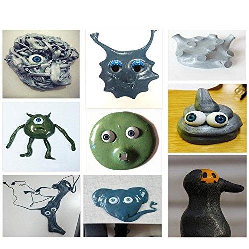 Intelligente Magnetische Knete Magnetische Knete mit Magnet Knetmasse Plastilin Monster Augen Magnetic Schleim Kinderknete für kinder Erwachsene, Anti Stress Spielzeug