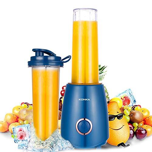 XIAOYUTOU Sonnenbrillen Tragbare Mini-Elektro-Entsafter Kleine Haushalts-Fruchtsaftpresse Mixer Smoothie Maker, Ocean Blue