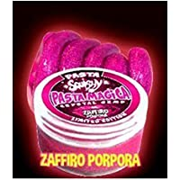 PASTA SQUISHY - PASTA MAGICA - COLORE ZAFFIRO PORPORA - CRYSTAL GEMS