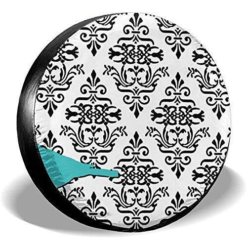 somee Spare Wheel Cover Barockes Blumenmuster Reserveradabdeckung Polyester Wasserdicht Staubdicht...