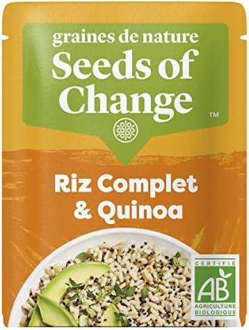 SEEDS OF CHANGE Riz Complet & Quinoa Certifié Bio Cuisson 2 Min Micro-Ondable 240 g