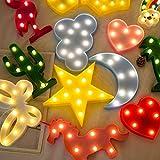 Lovemorease-Articles ménagers Mignon 3D LED Night Light Star Lune De Mur Mur De...