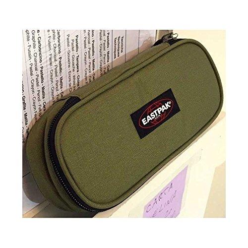 Astuccio eastpak oval tasca interna con zip e divisoria porta penne verde militare cod. ek71790k