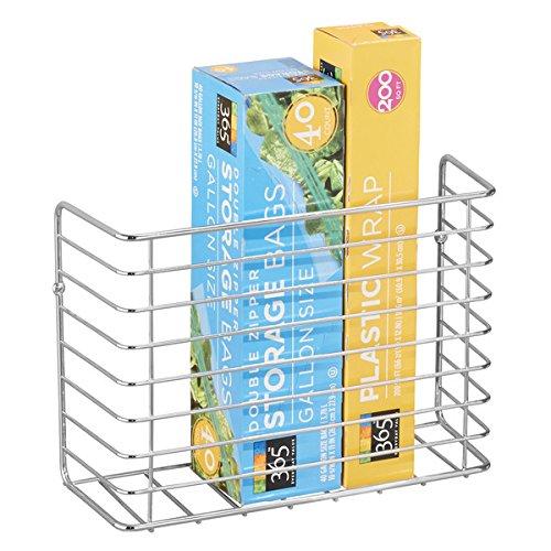 mDesign cestello per utensili da cucina – Portaoggetti da parete per ...