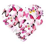 DEKOWEAR 3D Schmetterlinge realistisch | Wanddekoration mit Klebepunkten zur Fixierung Wandtattoo Wandsticker Wanddeko | Schmetterling Deko [Pink, 12er Set]