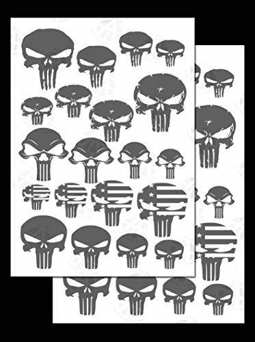 Säure Tactical® 2Pack Camouflage Easypeel Spray Paint cerakote Camo Gun Schablonen Punisher Skulls (Camo Punisher)