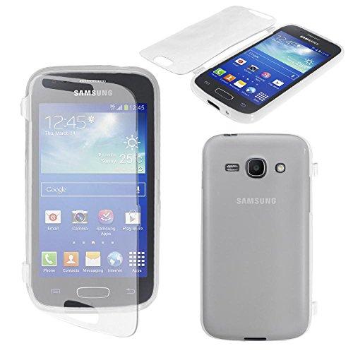 ebestStar - Compatible Coque Samsung Ace 3 Galaxy GT-S7270, S7272, S7275 Etui Housse Silicone Gel Portefeuille, Transparent [Appareil: 121.2 x 62.7 x 9.8mm, 4.0'']