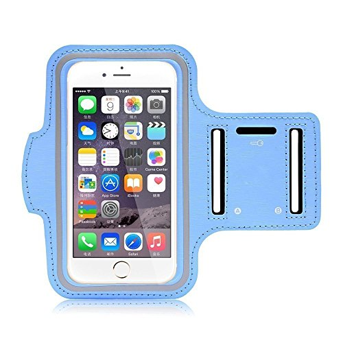 Go Crazzy Samsung Galaxy J7 Max New Hot (5.5) Arm Band Workout Cover Sport Gym Case ForSamsung Galaxy J7 Max (SKY BLUE)