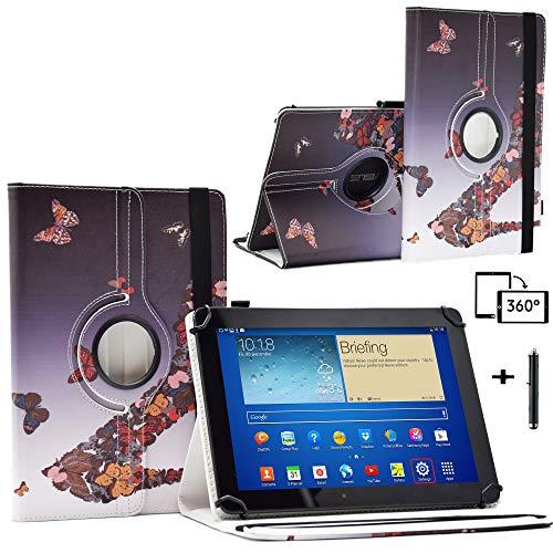 Schutzhülle für 25,7 cm (10,1 Zoll) Tablet-PC Blaupunkt Endeavour 101G (Standfunktion, Leder, mit Schmetterlingsabsatz)