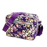 Subfamily® Fashion Women Leinwand Crossbody Bag Schultertasche Messenger Bag Kosmetiktasche Frauen Damen Tasche Handtasche Retro und klassisches Design (lila)