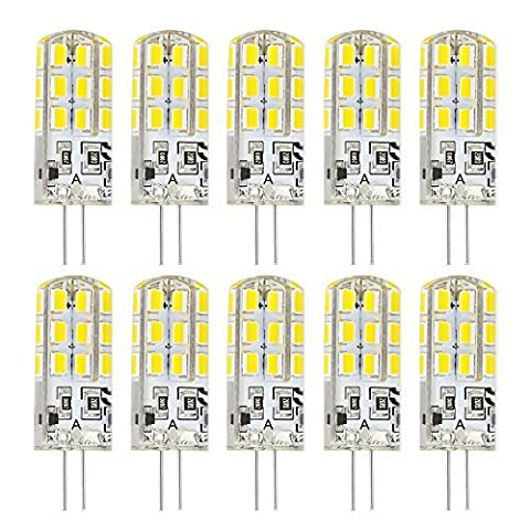 Rayhoo 10pcs G4 Base 24 2835-SMD LEDs Light Lamp 3