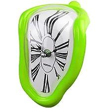 Jedfild Personalità creativa orologio pensile soggiorno studio orologio da parete Orologio a campana di quarzo Orologio silenzioso orologio orologio orologio da tavolo, 8 pollici (20 cm di diametro), verde di Roma