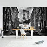 Foto-Tapete selbstklebend - Manhattan Bridge in America - Wandbild 190 x 288 cm