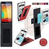Funda para Goophone N4 en Cuero Rojo - Innovadora Funda 4 en 1-Anti-Gravedad para Montaje en Pared, Soporte de Tableta en Vehículos, Soporte de Tableta - Protector Anti-Golpes para Coches y Paredes sin necesidad de herramientas o pegamento - Funda de Reboon para Goophone N4 Original