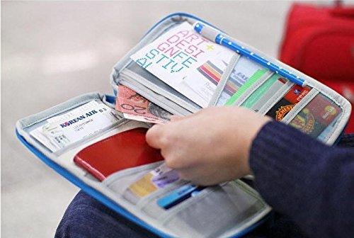 TRIXES Reiseportemonnaie Reisebrieftasche für Dokumente in Pink Blau