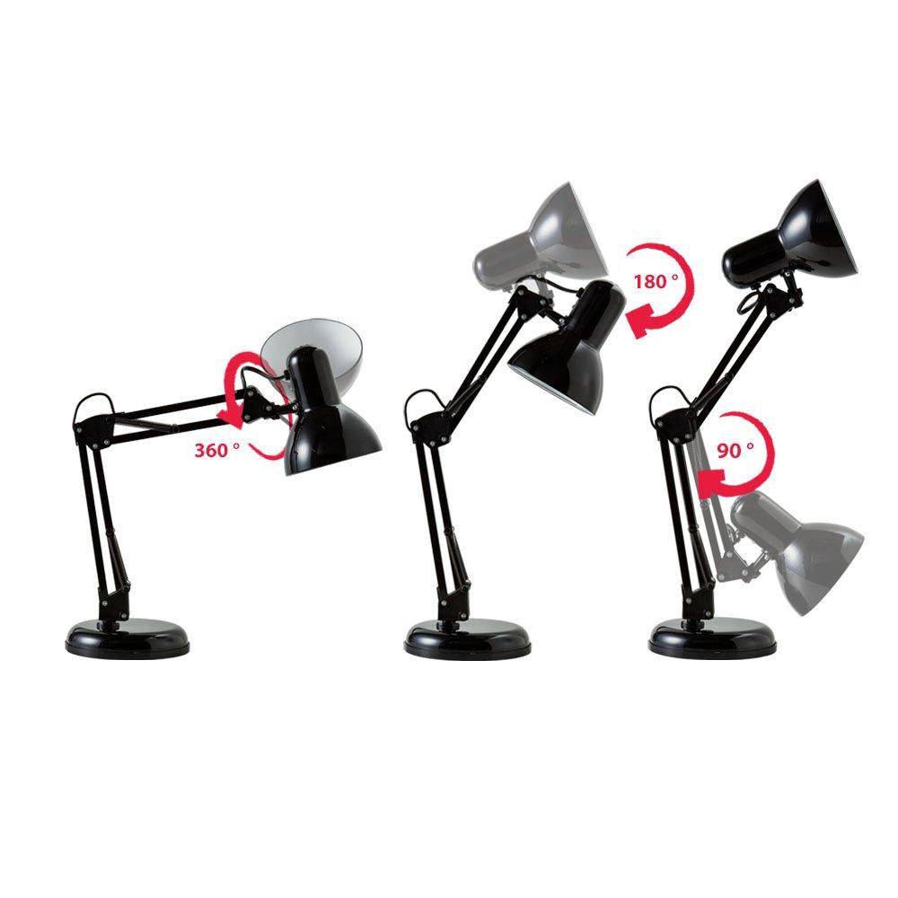 B.K. Licht lampe de bureau LED rétro, lampe de table LED ...