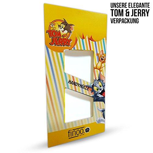 finoo | iPhone 7 Plus Hard Case Handy-Hülle Tom & Jerry Motiv | dünne stoßfeste Schutz-Cover Tasche mit lizensiertem Muster | Premium Case für Dein Smartphone| Jerry Happy Jerry smile