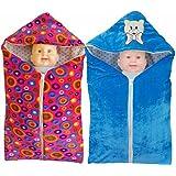 Brandonn Newborn Pack Of 2 Safety Bag Cum Sleeping Bag Cum Baby Blanket For Babies..