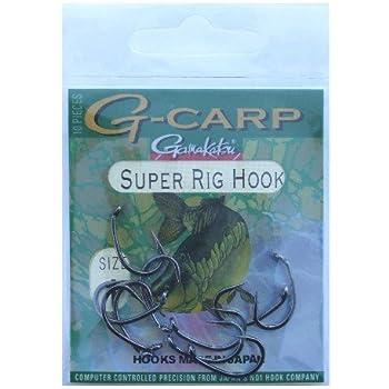 CARP Gamakatsu Karpfenhaken Super Rig Hook Gr.2 G