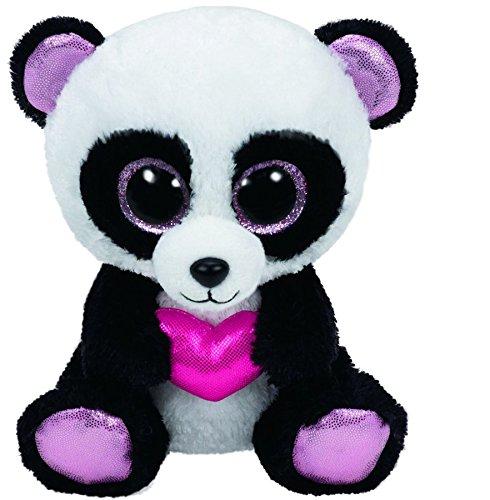"Beanie Boo Valentine's Panda - Cutie Pie - Pink Heart - 15cm 6"""