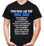 Der Dino ist Tot Tour 2018 Männer und Herren T-Shirt | Fussball Ultras Abstieg Hamburg Fun (Schwarz, XXXL)