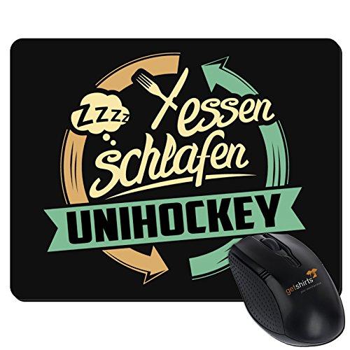 Preisvergleich Produktbild getshirts - RAHMENLOS® Geschenke - Mousepad - Sport Unihockey - schwarz uni